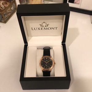 Luxemont Lady Maestro, rose gold, black dial
